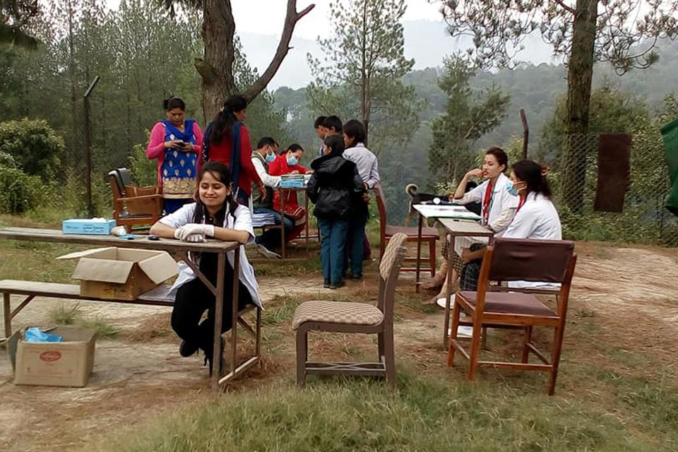 Free Health camp in Dhulikhel