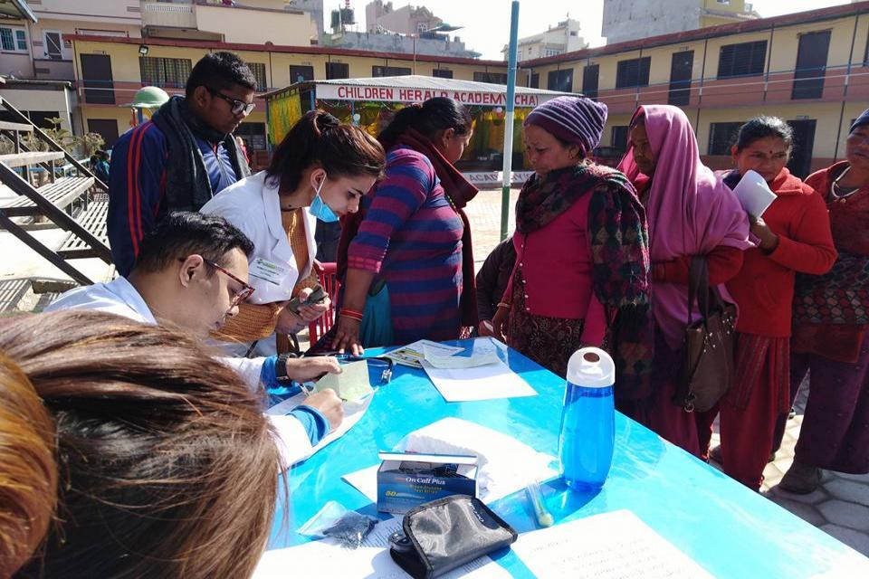 Free health camp in tarkeshwor.