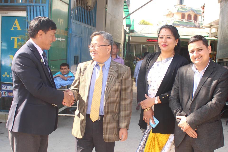 Hospital Visited by Korean Ambassador