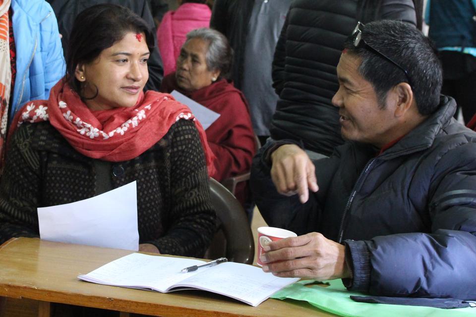 Free health camp on pilache Patan