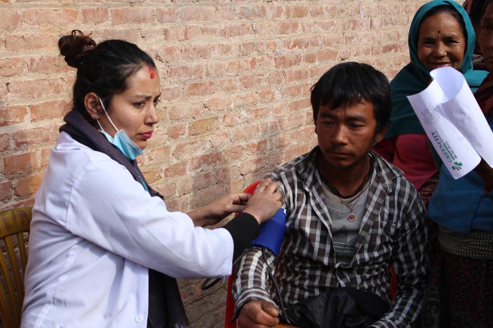 Free health camp in Nala