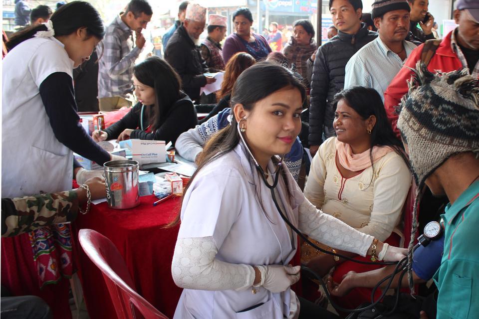 Free Health Camp on World Diabetes Day