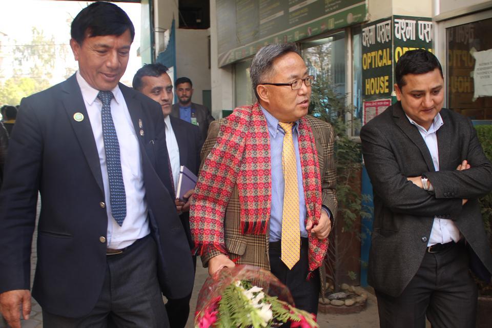 Visited by Korean Ambassador